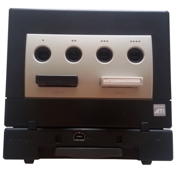 Datei:GameCube mit Game Boy Player.png